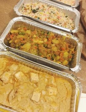 Tofu korma, mixed vegetable and cashew curry & nut rice